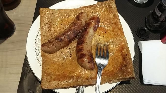 Crepe sausage